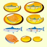 Fish Oil Supplement Healthcare Isolated. Vector Stock Images