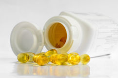 Fish Oil for Supplemental Food. Fish Oil of Supplemental Food Royalty Free Stock Photo