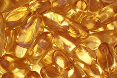 Fish oil tablets. Royalty Free Stock Photo