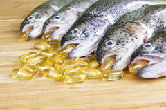 Fish Oil Time Royalty Free Stock Images