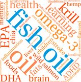 Fish Oil Word Cloud. On a white background Stock Photo