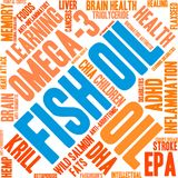 Fish Oil Word Cloud. On a white background Royalty Free Stock Image