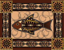 Fish. In old aboriginal style Royalty Free Stock Photo