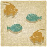 Fish old background. Vector illustration Stock Images