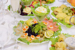 Fish and Olives Stock Photo