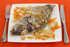 Fish with onion and carrot Stock Image
