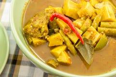 Fish organs sour soup Stock Photo