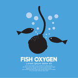 Fish Oxygen. Oxygen For Fish Vector Illustration Royalty Free Stock Photos