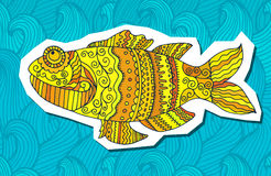 Fish painted by hand. Graphic arts. Fish painted by hand. Vector illustration. Graphic arts Royalty Free Stock Images