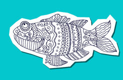 Fish painted by hand. Graphic arts. Fish painted by hand. Vector illustration. Graphic arts Royalty Free Stock Photography