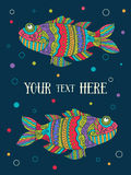 Fish painted by hand. Vector illustration. Graphic arts Stock Photo