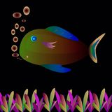 Fish painting. Colorful fish paintings for the background image Royalty Free Stock Image