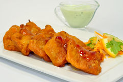 Fish Pakora Royalty Free Stock Photography