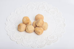 Fish paste cake and mochi for Japanese food ingredient image Royalty Free Stock Photo