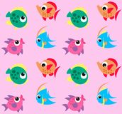 Fish pattern. Seamless fish pattern in bright colours Royalty Free Stock Images