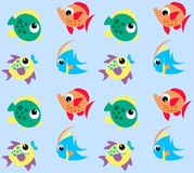 Fish pattern. Seamless fish pattern in bright colours Royalty Free Stock Photos