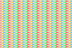 Fish pattern. Seamless fish pattern in bright colours Stock Photos