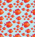 Fish pattern. Colour illustration of tropical fish pattern Stock Photography