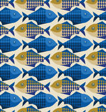 Fish pattern. Vector illustration of fish pattern Royalty Free Stock Photo