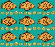 Fish pattern Stock Images