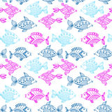 Fish pattern in abstract style.  Stock Images