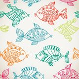 Fish pattern in abstract style. Color texture Stock Photo