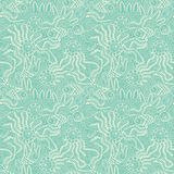 Fish pattern in abstract style. Copy square to the side and you'. Ll get seamlessly tiling pattern which gives the resulting image ability to be repeated or Stock Photo