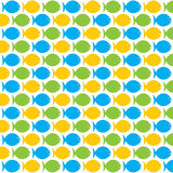 Fish pattern background design. Colorful fish pattern background design Stock Image