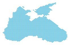 Fish Pattern Black Sea Map. Black Sea map full of fish. Vector geographic scheme designed from fish icons grid Royalty Free Stock Photo