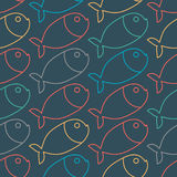 Fish pattern. Marine animal texture. Ornament for cloth.  Royalty Free Stock Photos