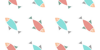 Fish pattern. Pale colored fish pattern vector Stock Photo