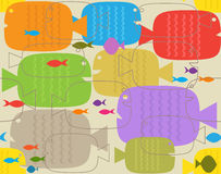 Fish Pattern Royalty Free Stock Photos