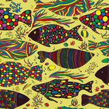 Fish pattern Royalty Free Stock Photos