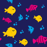 Fish pattern. A seamless pattern with colorful fish Stock Photo
