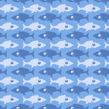Fish pattern. Seamless pattern with dark and light fish on a blue background Royalty Free Stock Photo