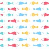 Fish pattern on white background. Vector illustration Stock Image