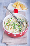 Fish pie with celery root. Brandade - salt cod and celery root puree Royalty Free Stock Photos