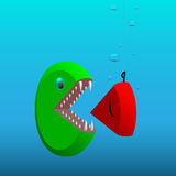 Fish-pie chart Royalty Free Stock Photo
