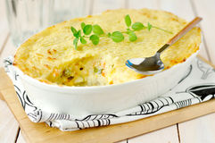 Fish Pie. In a Pan Stock Photos