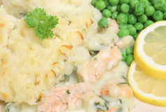 Fish Pie with Peas Royalty Free Stock Photography