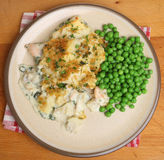 Fish Pie with Peas Royalty Free Stock Image