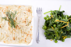 Fish Pie and Salad Stock Images