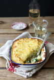 Fish pie with spinach Royalty Free Stock Images