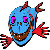Fish piranha Stock Images
