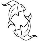 Fish - Pisces. The symbol of pisces, one of the zodiac signs Stock Images