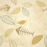 Fish and plant vector seamless pattern. This is file of EPS8 format Stock Illustration