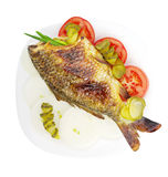 Fish on a plate. Stock Images