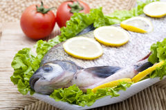 Fish plate Royalty Free Stock Images