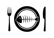 Fish on plate Stock Image