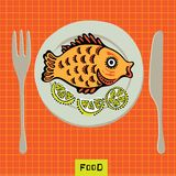Fish on a plate Royalty Free Stock Image